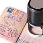 American Visa Stamp